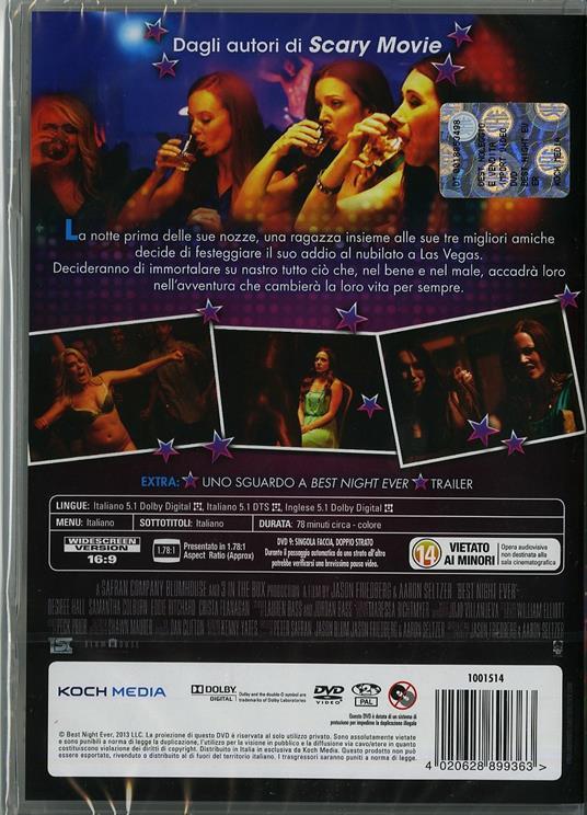 Best Night Ever di Aaron Seltzer,Jason Friedberg - DVD - 2