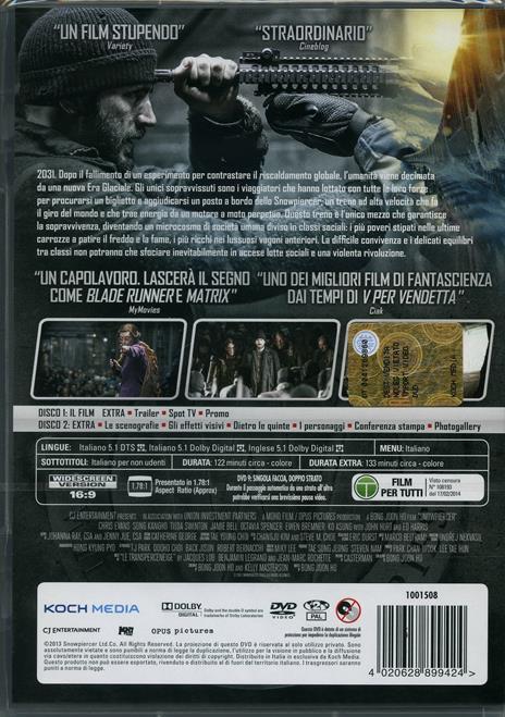 Snowpiercer (2 DVD)<span>.</span> Edizione speciale di Bong Joon Ho - DVD - 2