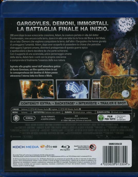 I, Frankenstein di Stuart Beattie - Blu-ray - 2