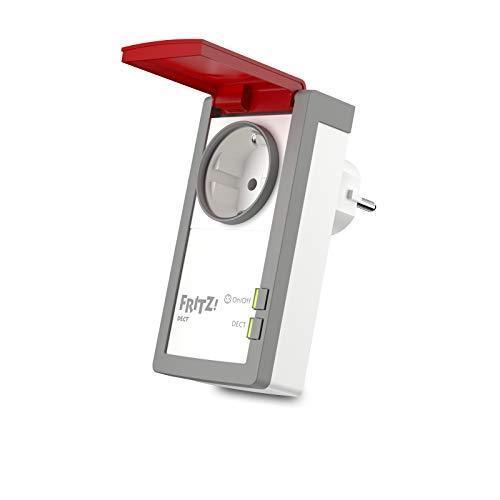 AVM FRITZ! DECT 210 International - Presa intelligente per casa e giardino, Smart Home, programmabile e controllabile via Internet, interfaccia in italiano