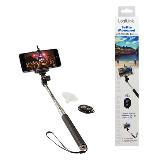 LogiLink BT0034 Smartphone Nero, Argento bastone per selfie - 5
