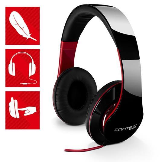Cuffie Fantec sHP-250aj-bk audio white red - 2
