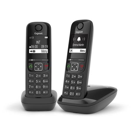 Gigaset AS690 DUO Telefono analogico/DECT Identificatore di chiamata Nero