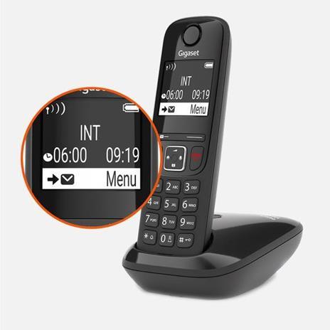 Gigaset AS690 DUO Telefono analogico/DECT Identificatore di chiamata Nero - 4