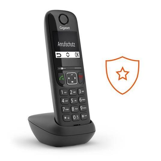 Gigaset AS690 DUO Telefono analogico/DECT Identificatore di chiamata Nero - 5