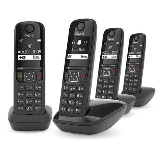 Gigaset AS690 DUO Telefono analogico/DECT Identificatore di chiamata Nero - 7