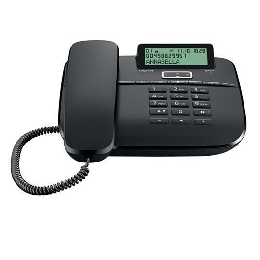 Gigaset DA 611 Telefono analogico Identificatore di chiamata Nero
