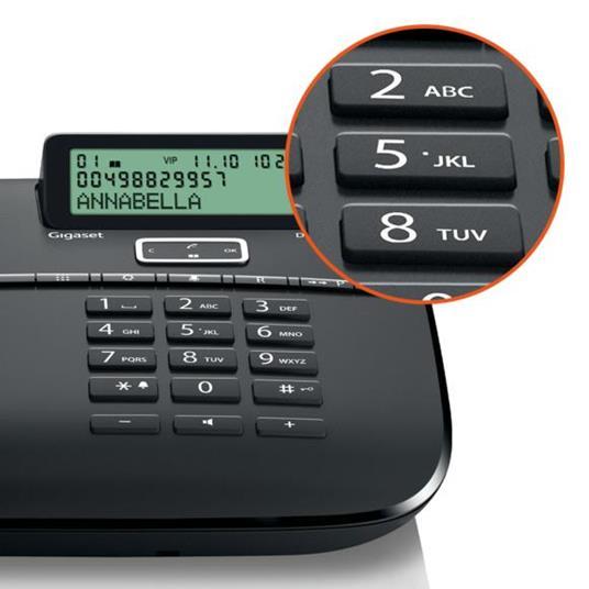 Gigaset DA 611 Telefono analogico Identificatore di chiamata Nero - 2