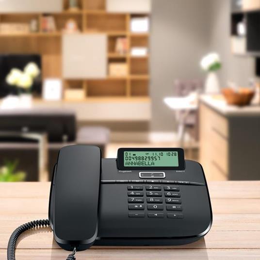 Gigaset DA 611 Telefono analogico Identificatore di chiamata Nero - 3