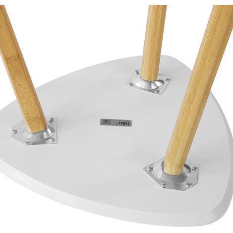 Set Di 2 Tavolini Bassi Da Salotto In Legno Di Bambù Massello E Mdf - 4