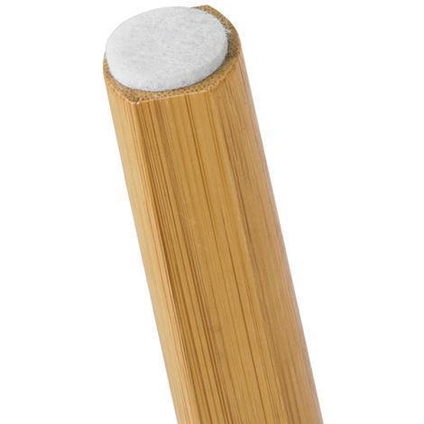 Set Di 2 Tavolini Bassi Da Salotto In Legno Di Bambù Massello E Mdf - 5