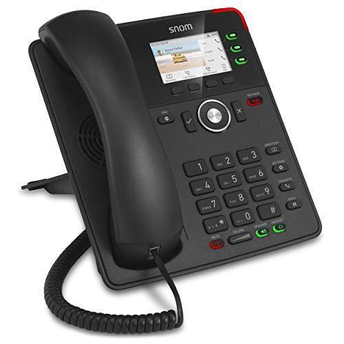 SNOM D717 Nero Telefono IP con 6 Account SIP, Display a Colori, Porta USB, Attacco Cuffia. 2 porta Gigabit LAN, 3 anni di garanzia - 3