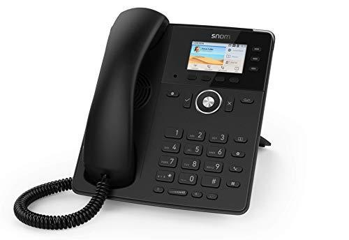 SNOM D717 Nero Telefono IP con 6 Account SIP, Display a Colori, Porta USB, Attacco Cuffia. 2 porta Gigabit LAN, 3 anni di garanzia