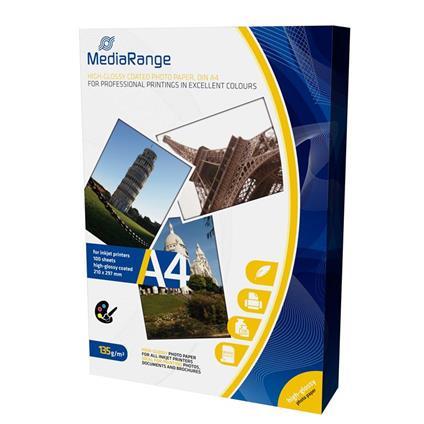 MediaRange MRINK107 carta fotografica Bianco Lucida A4