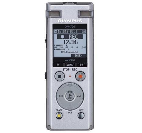 Registratore Olympus DM-720 Memoria interna cheda di memoria Argento dittafono