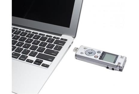 Registratore Olympus DM-720 Memoria interna cheda di memoria Argento dittafono - 6