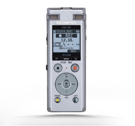 Registratore Olympus DM-720 Memoria interna cheda di memoria Argento dittafono - 10