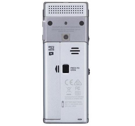 Registratore Olympus DM-720 Memoria interna cheda di memoria Argento dittafono - 11