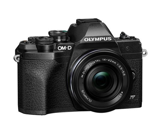 """Olympus OM-D E‑M10 Mark IV + ED 14-42mm F3.5-5.6 EZ MILC 20,3 MP Live MOS 5184 x 3888 Pixel 4/3"""" Nero"""