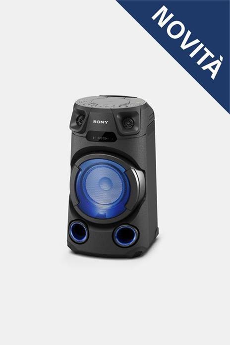 Sony MHC-V13 - Altoparlante Bluetooth All in One con JET BASS BOOSTER, Effetti Luminosi, Lettore CD, USB, Nero - 12