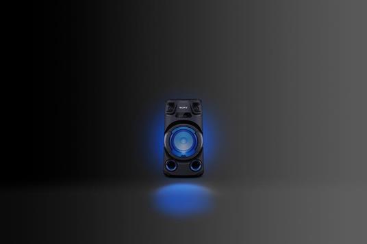Sony MHC-V13 - Altoparlante Bluetooth All in One con JET BASS BOOSTER, Effetti Luminosi, Lettore CD, USB, Nero - 2