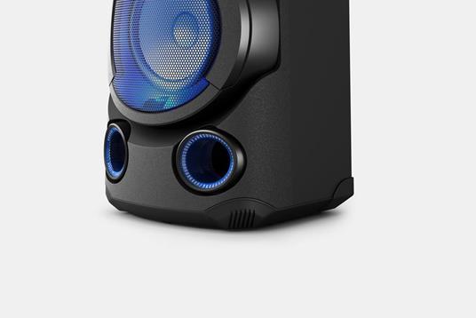 Sony MHC-V13 - Altoparlante Bluetooth All in One con JET BASS BOOSTER, Effetti Luminosi, Lettore CD, USB, Nero - 3
