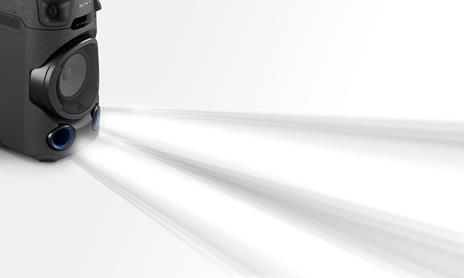 Sony MHC-V13 - Altoparlante Bluetooth All in One con JET BASS BOOSTER, Effetti Luminosi, Lettore CD, USB, Nero - 4