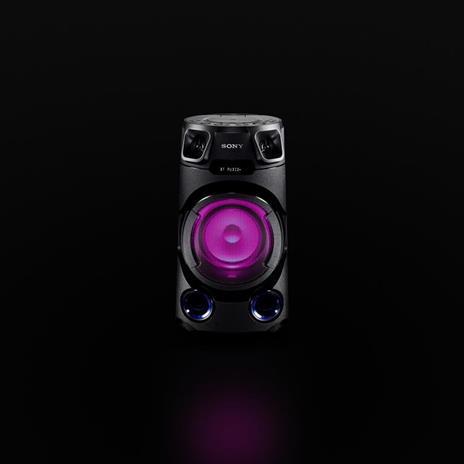 Sony MHC-V13 - Altoparlante Bluetooth All in One con JET BASS BOOSTER, Effetti Luminosi, Lettore CD, USB, Nero - 6