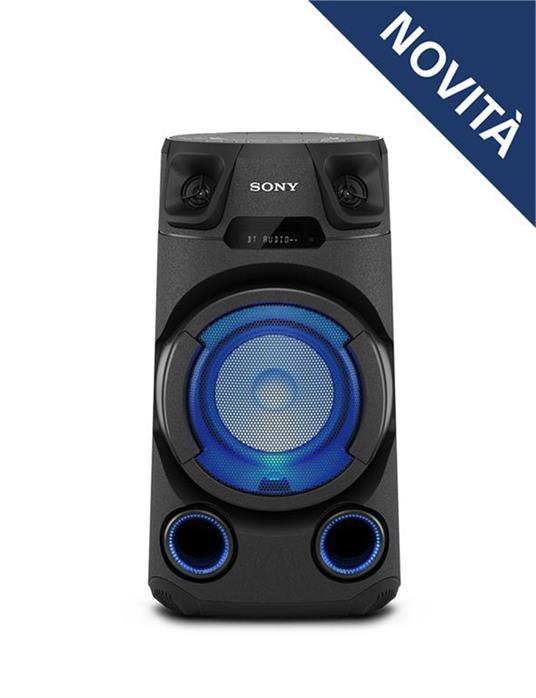 Sony MHC-V13 - Altoparlante Bluetooth All in One con JET BASS BOOSTER, Effetti Luminosi, Lettore CD, USB, Nero - 10