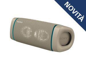 Sony SRS XB33 - Speaker bluetooth waterproof, cassa portatile con autonomia fino a 24 ore e effetti luminosi (Taupe) - 2