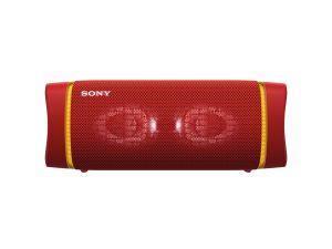 Sony SRS XB33 - Speaker bluetooth waterproof, cassa portatile con autonomia fino a 24 ore e effetti luminosi (Rosso)