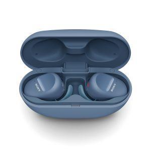 Sony WF SP800 N - Cuffie bluetooth true wireless, in ear, con Noise Cancelling, microfono integrato e batteria fino a 18 ore (Blu) - 3
