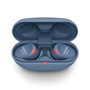 Sony WF SP800 N - Cuffie bluetooth true wireless, in ear, con Noise Cancelling, microfono integrato e batteria fino a 18 ore (Blu) - 4