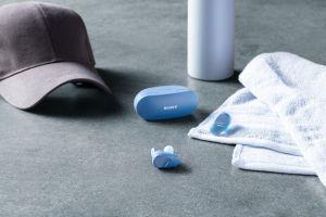 Sony WF SP800 N - Cuffie bluetooth true wireless, in ear, con Noise Cancelling, microfono integrato e batteria fino a 18 ore (Blu) - 7