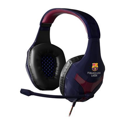 Mars Gaming FC Barcelona Cuffia Padiglione auricolare Connettore 3.5 mm Nero, Blu, Rosso