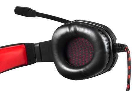 Mars Gaming MH2 cuffia e auricolare Padiglione auricolare Nero, Rosso - 5