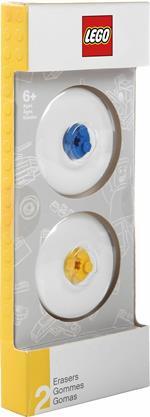 Gomme LEGO Blu & Gialla. Confezione 2 pezzi