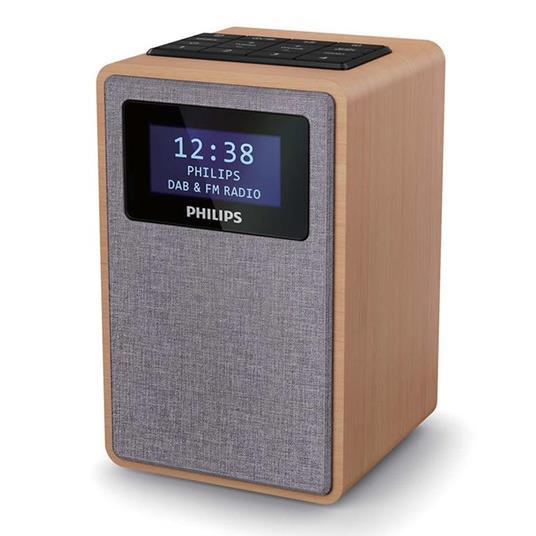 Philips TAR5005/10 radio Orologio Digitale Grigio, Legno - 2