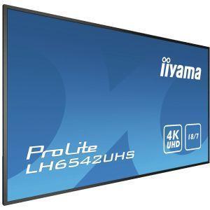 """iiyama LH6542UHS-B1 visualizzatore di messaggi Pannello piatto per segnaletica digitale 163,8 cm (64.5"""") IPS 4K Ultra HD Nero Processore integrato Android 8.0 - 3"""