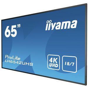 """iiyama LH6542UHS-B1 visualizzatore di messaggi Pannello piatto per segnaletica digitale 163,8 cm (64.5"""") IPS 4K Ultra HD Nero Processore integrato Android 8.0 - 4"""
