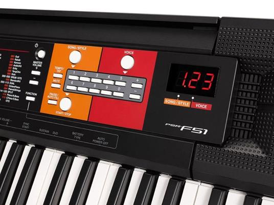 Yamaha PSR-F51 tastiera MIDI 61 chiavi Nero - 5