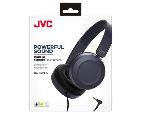 JVC HA-S31M-A Cuffia Padiglione auricolare Blu - 4