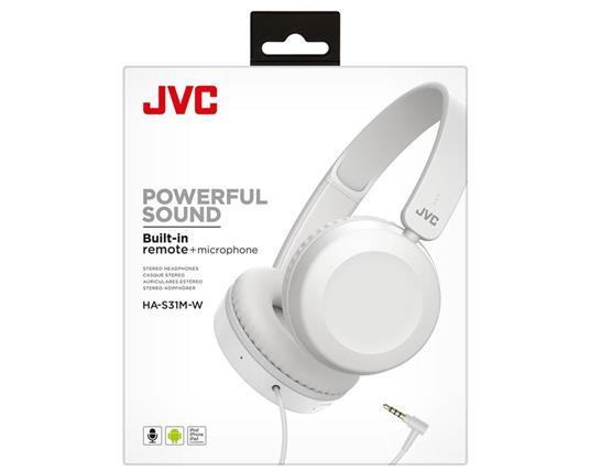 JVC HA-S31M-W Cuffia Padiglione auricolare Bianco Connettore 3.5 mm - 4