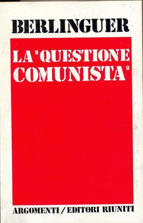 La questione Comunista  - copertina