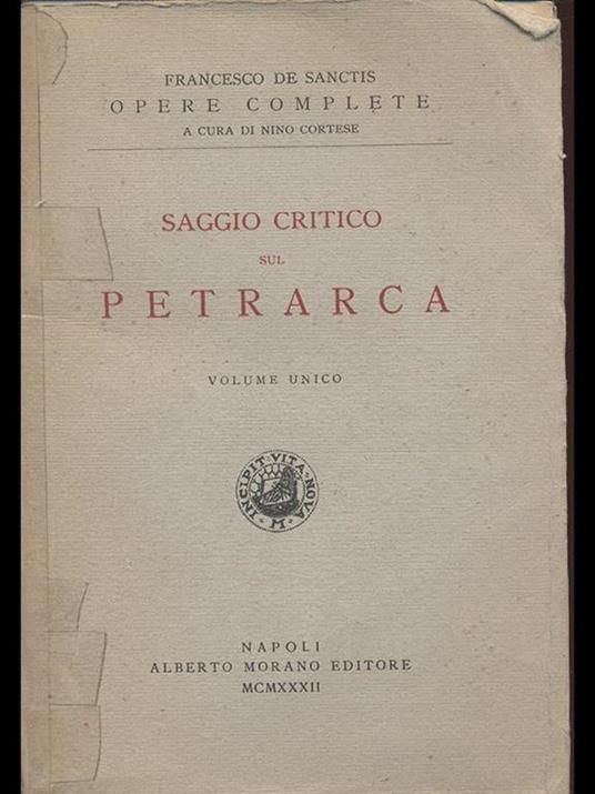 Saggio critico sul Petrarca - Francesco De Sanctis - 3
