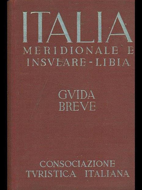 Italia Meridionale e Insulare-Libia Vol. III - 3
