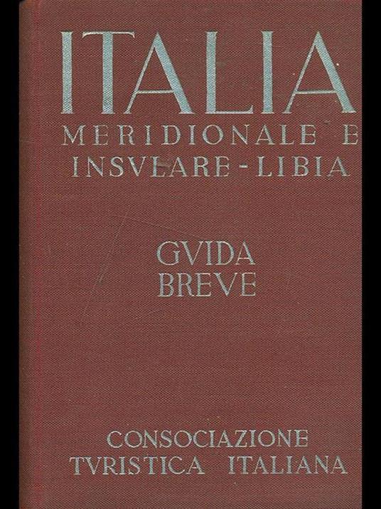 Italia Meridionale e Insulare-Libia Vol. III - copertina