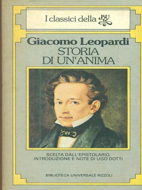 Storia di un'anima - Giacomo Leopardi - copertina