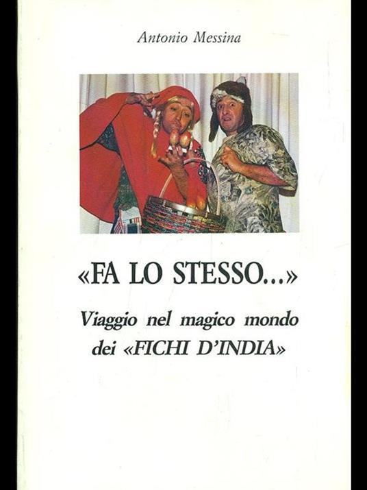 Fa lo stesso - Antonio Messina - copertina