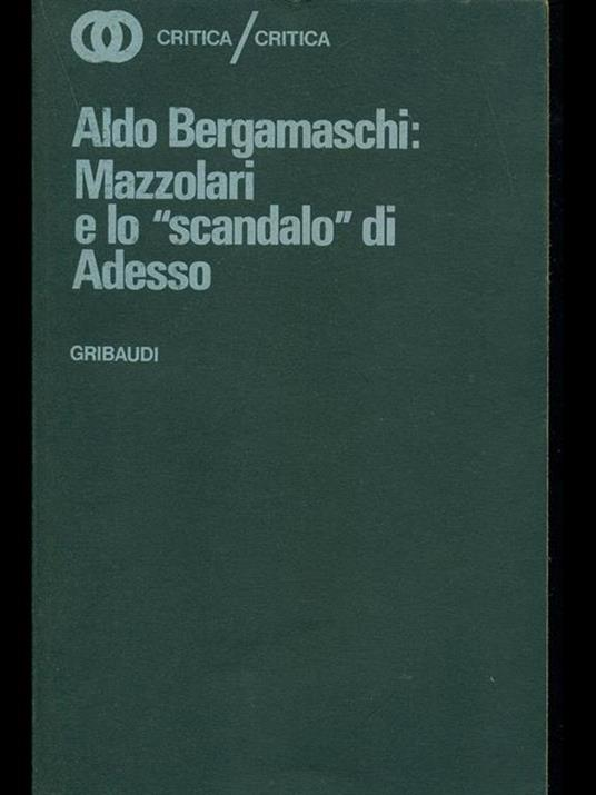 Mazzolari e lo scandalo di adesso - Aldo Bergamaschi - copertina